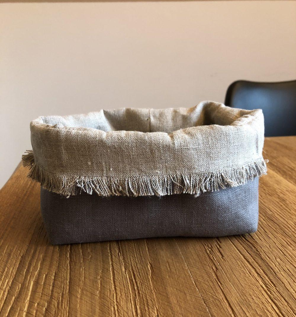 cestino porta pane lino grigio1