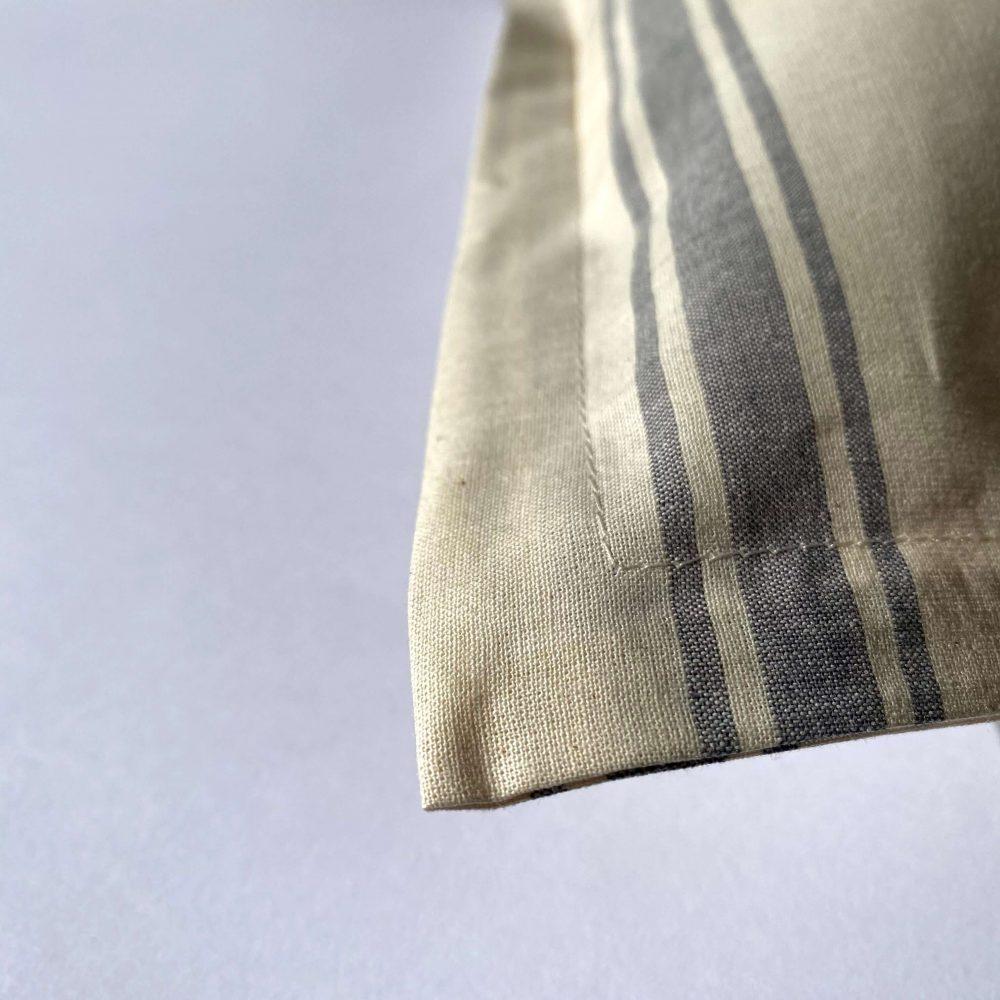 federe in cotone tinto filo ninfa grigio